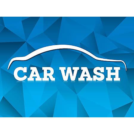 """Customizable Yard Sign, Car Wash Blue, 18"""" x 24"""""""