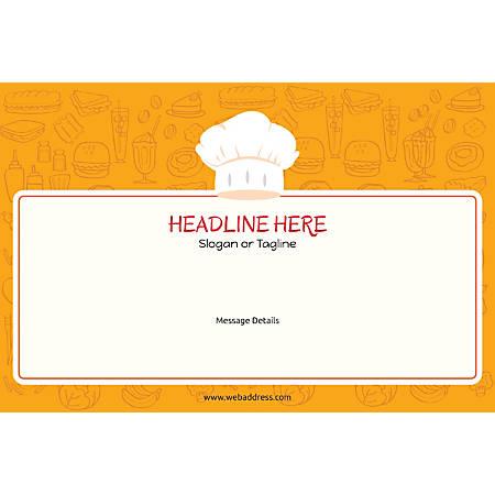 Adhesive Sign, Chef Hat, Horizontal