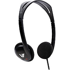 V7 Headphone Stereo Black Mini phone