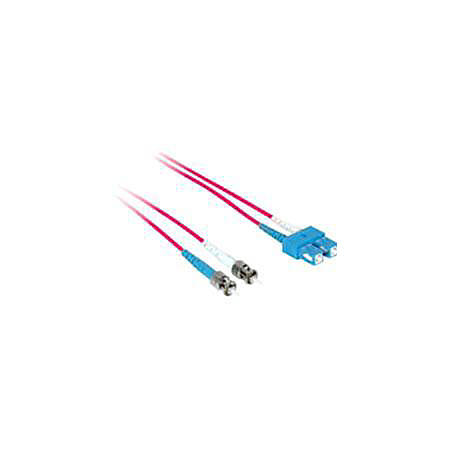 C2G-1m SC-ST 50/125 OM2 Duplex Multimode PVC Fiber Optic Cable - Red