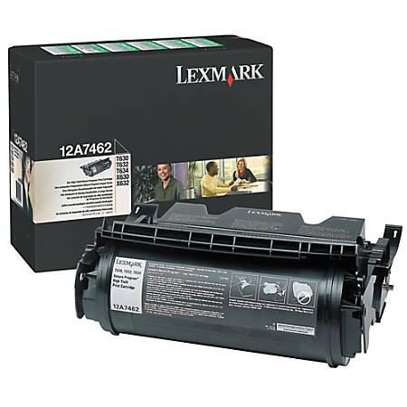 Lexmark™ 12A7462 Return Program High-Yield Black Toner Cartridge