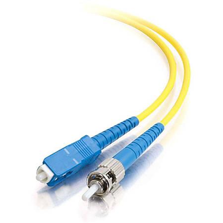 C2G-2m SC-ST 9/125 OS1 Simplex Singlemode Fiber Optic Cable (Plenum-Rated) - Yellow