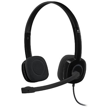 Logitech® H151 On-Ear Stereo Headset, Black