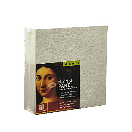 """Ampersand Artist Panel Canvas Texture Cradled Profile, 5"""" x 5"""", 1 1/2"""", Pack Of 2"""
