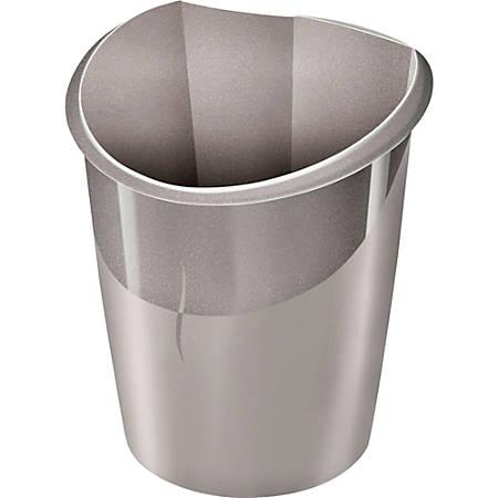 "CEP Ellypse 15-liter Waste Bin - 3.96 gal Capacity - Handle - 15"" Height x 11"" Width x 12.5"" Depth - Polypropylene - Gray"