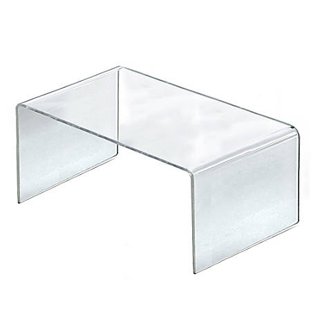 "Azar Displays Riser Displays, 6""H x 12""W x 7 3/4""D, Clear, Pack Of 4"