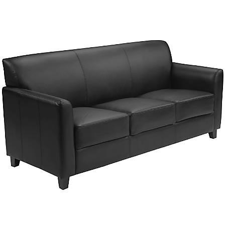 Flash Furniture HERCULES Diplomat Series Leather Sofa, Black