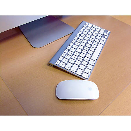 "Floortex Desktex Polycarbonate Anti-Slip Desk Mats, 19"" x 24"", Clear, Pack Of 2"