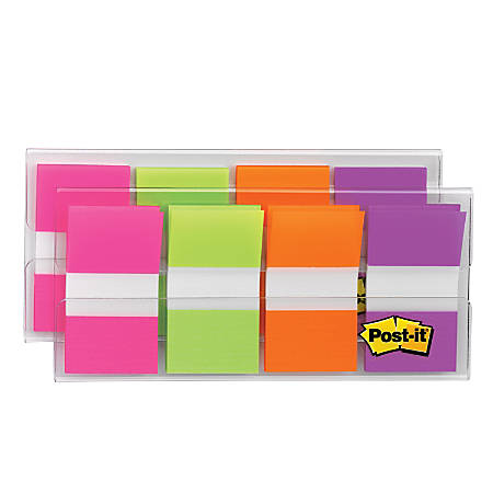 "Post it® Flags, 1"" x 1 7/10"", Assorted Colors, 20 Flags Per Pad, Pack Of 8 Pads"