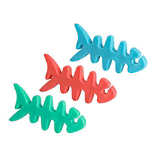 Ativa Cable Clips 3 Fish Assorted