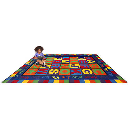 """Flagship Carpets ABC Words Rug, 7' 6"""" x 12', Primary"""