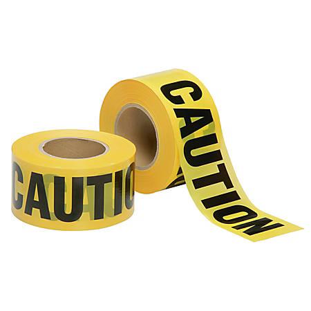 "SKILCRAFT® Non-Adhesive Barricade Tape, Caution, 3"" x 1000', Black/Yellow (AbilityOne 9905-01-613-4244)"