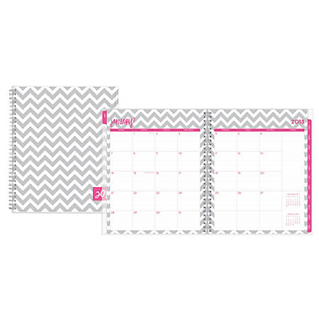 """Dabney Lee for Blue Sky™ Ollie Monthly Planner, 8"""" x 10"""", 50% Recycled, Multicolor, January to December 2018 (102130)"""