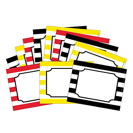 "Barker Creek Name Badges/Self-Adhesive Labels, 3 1/2"" x 2 3/4"", Wide Stripes, Pack Of 45"