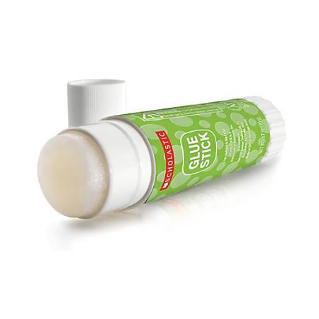 Scholastic Glue Sticks, 0.32 Oz., Clear, Pack Of 4