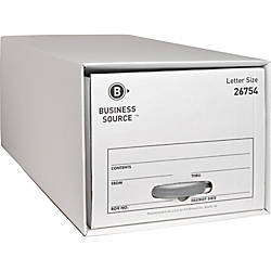 Business Source Drawer Storage Boxes External