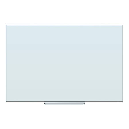"U Brands Floating Dry-Erase Board, Glass, 36"" x 24"", Frosted White"