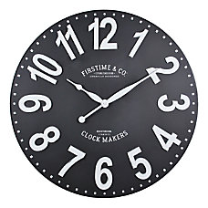 FirsTime Co Sullivan Wall Clock BlackWhite