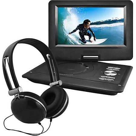 """Ematic EPD116 Portable DVD Player - 10"""" Display - 1024 x 600 - Black - DVD-R, CD-R - DVD Video, Video CD, MP4, DivX - CD-DA, MP3 - Lithium Polymer (Li-Polymer)"""