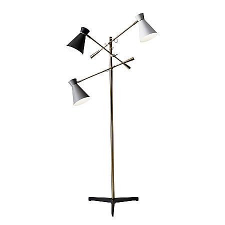 "Adesso® Lyle 3-Arm Floor Lamp, 71""H, Multicolor"