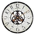 "27"" Carlisle Gears Wall Clock Neutral White/Black - FirsTime & Co."
