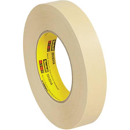 "3M™ 231 Masking Tape, 3"" Core, 1"" x 180', Tan, Case Of 36"