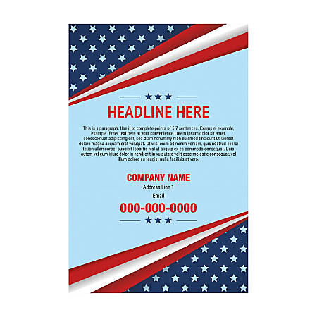 Adhesive Sign Template, Vertical, Cross Flag