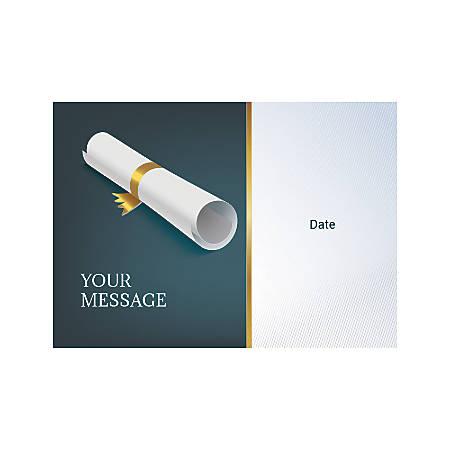 Flat Photo Greeting Card, Scroll, Horizontal