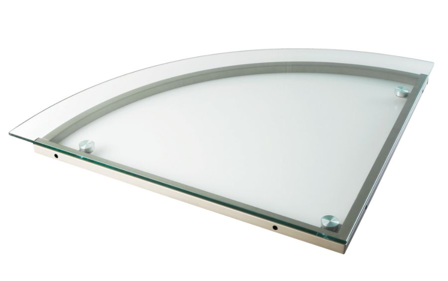 Realspace Merido Glass Corner Desk Connector Silver by Office