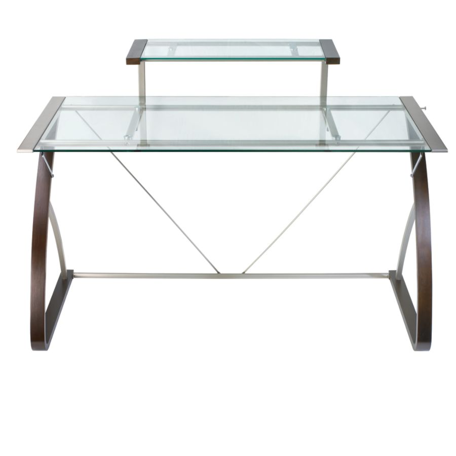 Realspace Merido Main Desk EspressoSilver by Office Depot OfficeMax