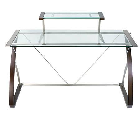 Realspace Merido Main Desk EspressoSilver
