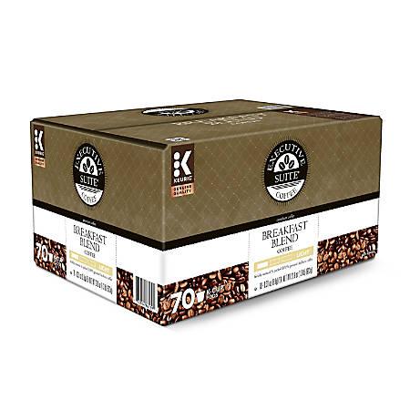 Executive Suite® Breakfast Blend Coffee Keurig® Single-Serve K-Cup®, Carton Of 70