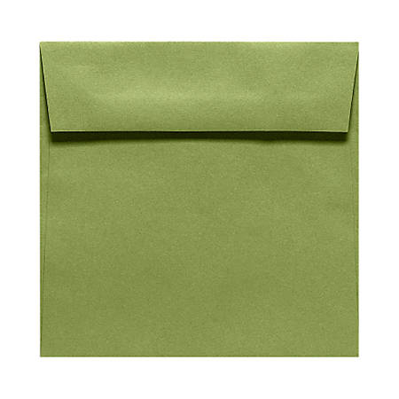 """LUX Square Envelopes With Moisture Closure, 5 1/2"""" x 5 1/2"""", Avocado Green, Pack Of 50"""