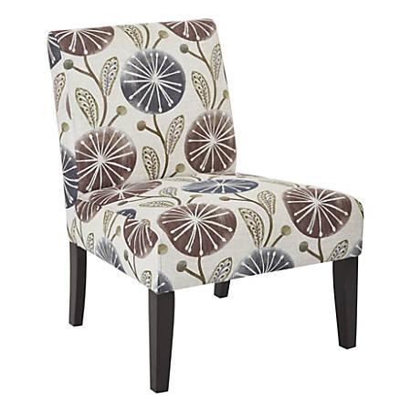Ave Six Laguna Accent Chair Dandelion Plumdark Espresso
