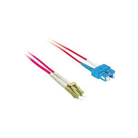 C2G 1m LC-SC 9/125 OS1 Duplex Singlemode PVC Fiber Optic Cable - Red