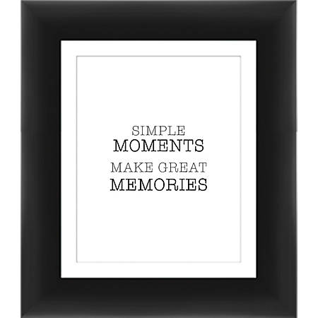 """PTM Images Expressions Framed Wall Art, Moments, 15""""H x 13""""W, Black"""