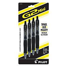 Pilot G2 Mini Gel Pens Fine