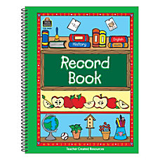 Teacher Created Resources Green Border Record