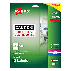 Avery Durable Permanent ID Labels AVE6794