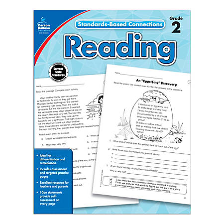 Carson-Dellosa Standards-Based Connections Reading Workbook, Grade 2