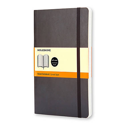"""Moleskine Classic Hard Cover Notebook, 3-1/2"""" x 5-1/2"""", Ruled, 192 Pages (96 Sheets), Black"""