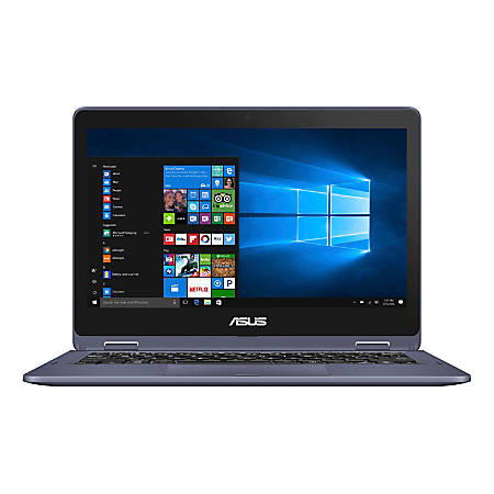 """ASUS® VivoBook Flip Laptop, 11.6"""" Touch Screen, Intel® Pentium®, 4GB Memory, 128GB Solid State Drive, Windows 10 Home in S mode, TP202NA-OS21T"""