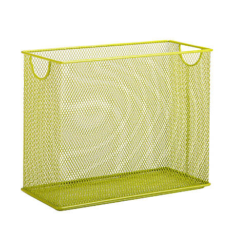 "Honey-Can-Do Tabletop Hanging File Organizer, 9 7/8""H x 12 1/2""W x 5 1/2""D, Lime"