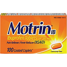 Motrin Ibuprofen Caplets For Fever Common