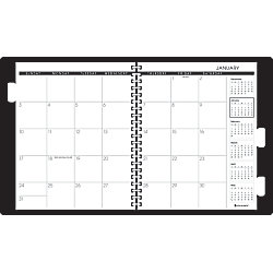 at a glance 5 year monthly planner 9 x 11 black january december