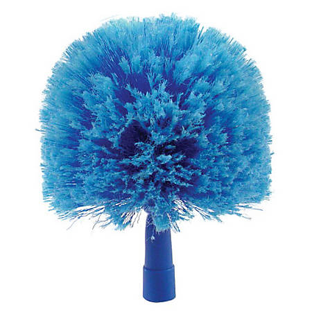 "Carlisle Flo-Pac Round Soft-Flagged Duster, 9"", Blue"