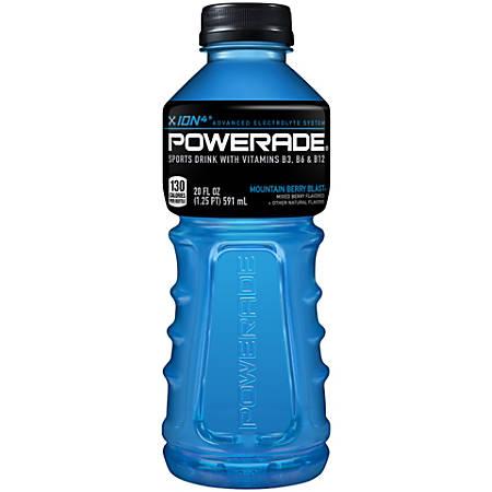 Powerade® Liquid Hydration Energy Drink, Mountain Blast (Berry), 20 Oz
