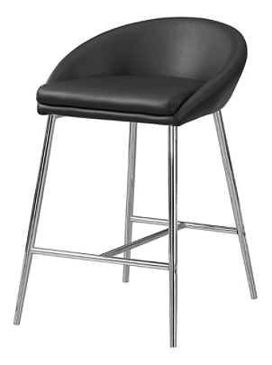 Pleasing Monarch Specialties Counter Height Bar Stools Black Chrome Pack Of 2 Stools Item 4410114 Creativecarmelina Interior Chair Design Creativecarmelinacom