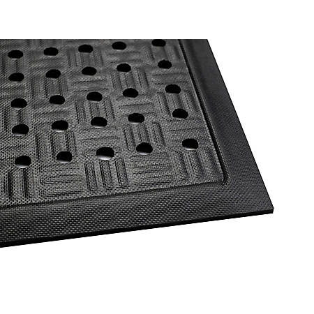 The Andersen Company Cushion Station With Holes, 2' x 3 3/16', Black