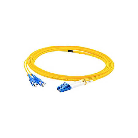 AddOn 4m LC (Male) to SC (Male) Yellow OS1 Duplex Fiber OFNR (Riser-Rated) Patch Cable